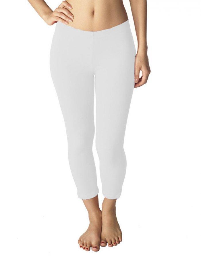 Combed Cotton Spandex Capri 8333 Fitness Wear Direct